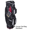 courier cart bag red black